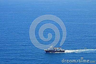 Yacht in Mediterranean Sea