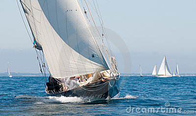 Yacht named penduick by eric tabarly Editorial Stock Image