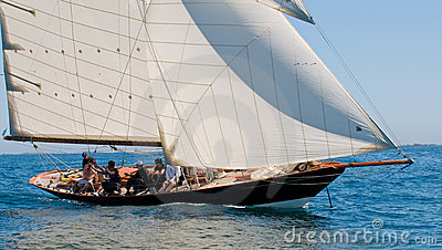 Yacht named penduick by eric tabarly Editorial Photography