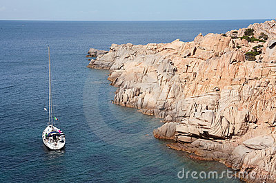 Yacht near Sardinia coast