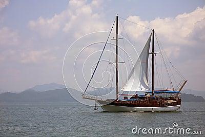 Yacht in Phang Nga Bay