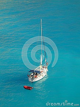 Yacht in Porto Katsiki, Lefkada, Greece