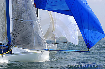Yacht race at regatta