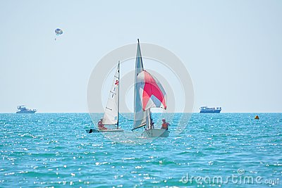 Yacht regatta Editorial Stock Image