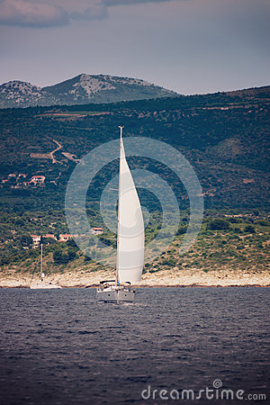 Yacht sailing in Adriatic
