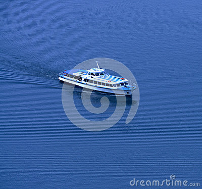 Yacht. The top view