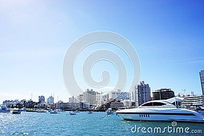 Yacht in Uruguay