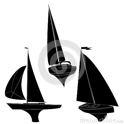 Yacht vector illustration Vector Illustration