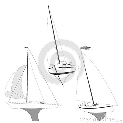 Yacht vector illustration Vector Illustration