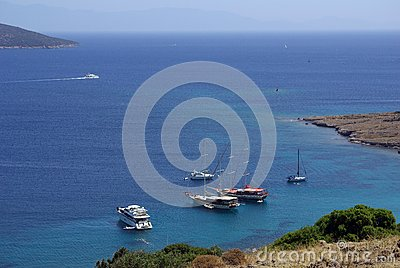 Yachts in the Aegean  Sea