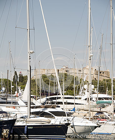 Yachts Antibes France French Riviera with castl