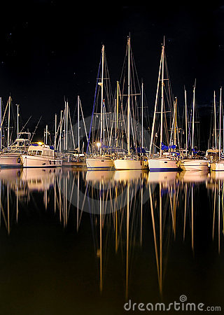 Free Yachts At Night Stock Photos - 2731353