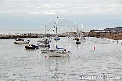 Yachts au crépuscule Image stock éditorial