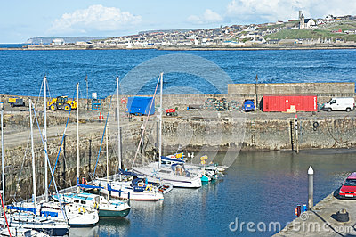 Yachts in Banff harbour Editorial Stock Photo