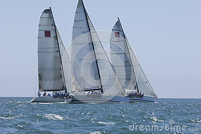 Yachts Compete In Team Sailing Event