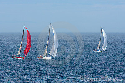 Yachts competing in the Rolex Sydney to Hobart rac Editorial Stock Image
