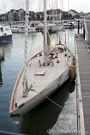 Yachts at dockyard