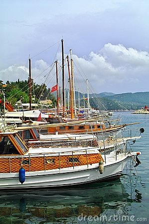 Yachts in harbour, Kaş, Turkey
