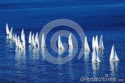 Yachts on the high seas