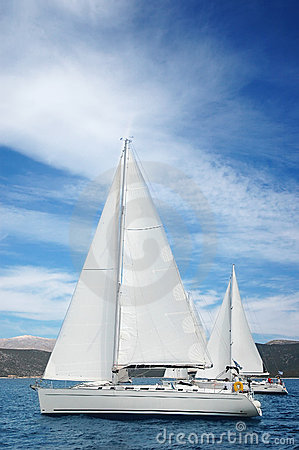 Yachts in the medeterian sea