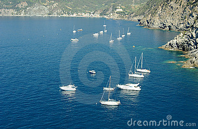 Yachts on the Mediterranean