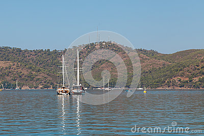 Yachts in the Mediterranean Sea Editorial Stock Photo