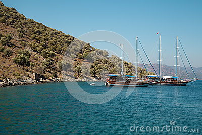 Yachts in the Mediterranean Sea Editorial Photography