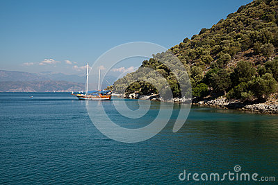 Yachts in the Mediterranean Sea Editorial Photo
