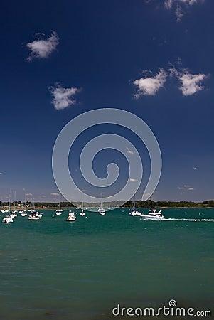 Yachts on the Morbihan Gulf