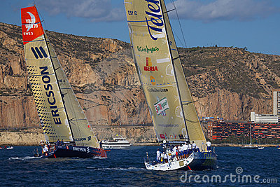 Yachts Telefonica Blue and Ericsson in VOR Editorial Image