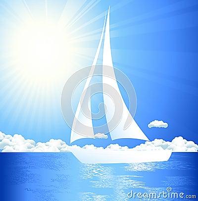 Yaght in the sea