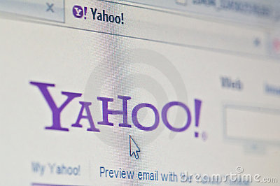 Yahoo Editorial Stock Image