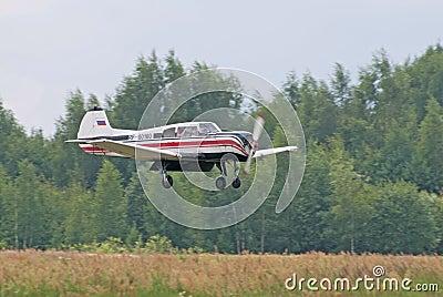 Yak-18t lands Editorial Stock Image
