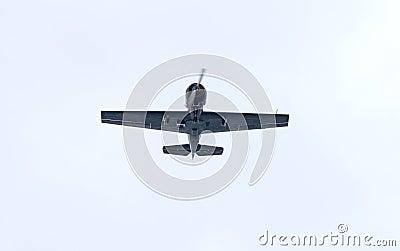 Yak-52 in flight Editorial Stock Photo