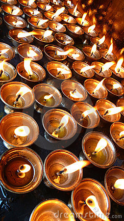 Yak-Butter Lamps  in Tibet