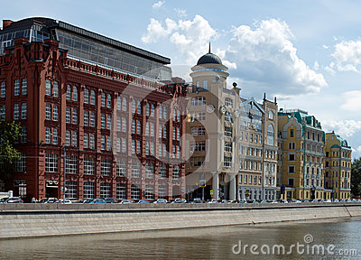 Yakimanskaya embankment Editorial Photography