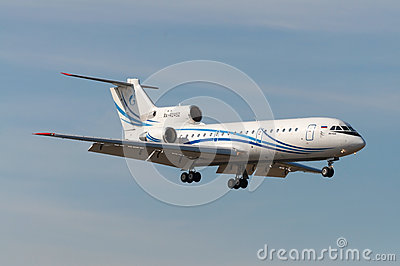 Yakovlev Yak-42 jet aircraft Editorial Stock Image