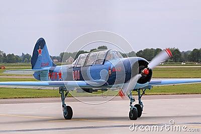 Yakovlev yak-52 russian airplane