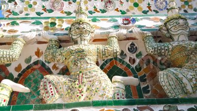 Yaksha Guardians of Wat Arun, Bangkok, Thailand stock video