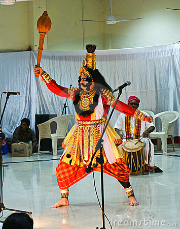 Yakshagana dancer enacting in a show Editorial Stock Photo