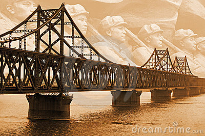 Yalu River bridge.Korean War