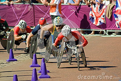YAMAMOTO leads the Mens Paralympic Marathon Editorial Stock Photo