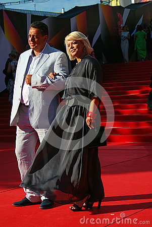 Yana Poplavskaya at Moscow Film Festival Editorial Stock Image