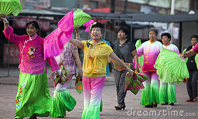Yangko-A popular Chinese rural dance Editorial Stock Image