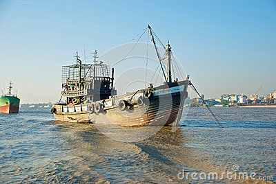 Yangon river transport