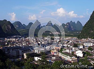 Yangshuo aerial view