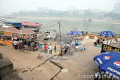 Yangtze River Shoreline Editorial Image