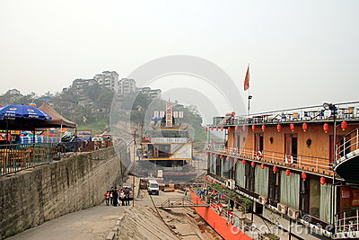 Yangtze River Shoreline Editorial Stock Photo