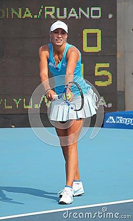 Yanina Wickmayer (BEL), professional tennis player Editorial Stock Photo