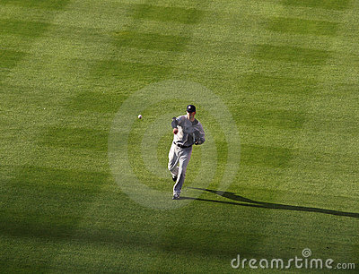 Yankees AJ Burnett throws ball to warm up Editorial Photography